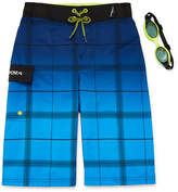 ZeroXposur Gradiant Plaid Swim Trunks - Boys 8-20
