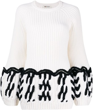 Ports 1961 Fully Fashioned crew neck knit jumper