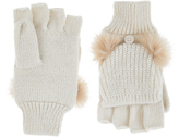 Accessorize Double Pom Capped Gloves