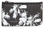 Saint Laurent Men's Palm Leather Credit Card Holder