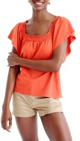 J.Crew Women's Smocked Top