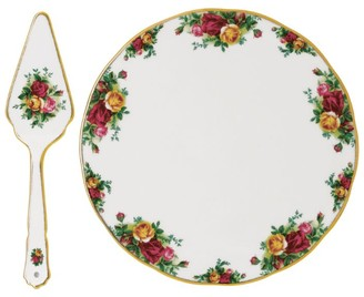 Royal Albert Old Country Roses Cake Plate And Server (29.5Cm)