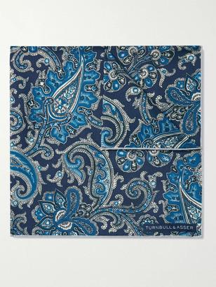 Turnbull & Asser Paisley-Print Silk-Twill Pocket Square