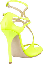 Jimmy Choo Lang Patent Strappy Sandal, Yellow