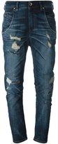 Diesel distressed curved leg jeans