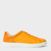 Paul Smith Women's Apricot Orange Leather And Suede 'Serge' Sneakers