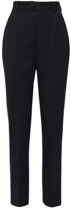 Dolce & Gabbana High Waist Stretch Wool Canvas Pants