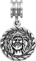 Persona Sterling Silver Christ Medalllion Charm fits Pandora, Troll & Chamilia European Charm Bracelets