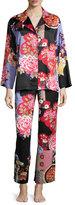 Natori Mikado Printed Pajama Set, Black