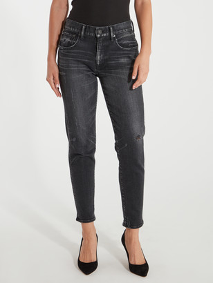 Moussy Velma Mid Rise Distressed Skinny Ankle Jeans