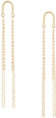 Poppy Finch 18k Gold Beaded Tassel Arch Earrings