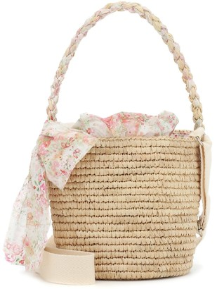 Bonpoint Satya raffia bucket bag