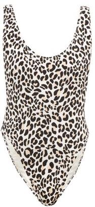 Norma Kamali Marissa Leopard Print Swimsuit - Womens - Leopard