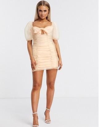 Skylar Rose organza mini dress in pink blush