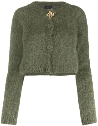Pinko Frog Applique Cropped Cardigan