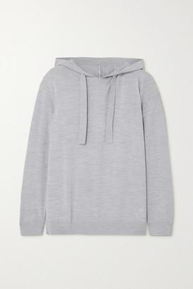 Ninety Percent + Net Sustain Organic Merino Wool-blend Hoodie - Gray