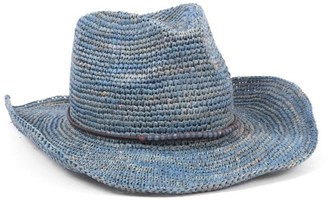 Ale By Alessandra Women's Cassidy Crochet Raffia Cowboy Sunhat Packable & Adjustable