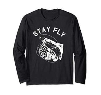Fly London Stay Trout Fishing Gift Long Sleeve T-Shirt