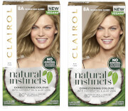 Clairol Natural Instincts Semi-Permanent No Ammonia Vegan Hair Dye Duo (Various Shades) - 8A Medium Cool Blonde