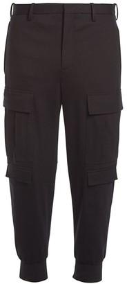 Neil Barrett Double Satin Skinny Cargo Pants