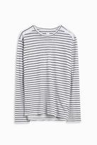 120% Lino Long Sleeve Stripe Top
