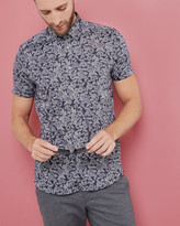 Graphic Floral Cotton Shirt