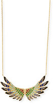 Lalique 18k Gold Multi-Stone Wing Pendant Necklace