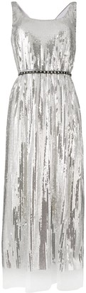 Marc Jacobs belted flared midi dress