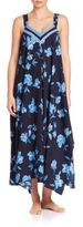Oscar de la Renta Magnolia Floral Print Gown