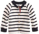 Petit Bateau Baby striped cardigan sweater