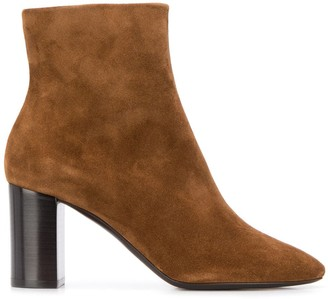 Saint Laurent Block 80 Heel Ankle Boots