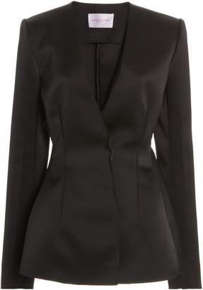 Carolina Herrera Double-Bonded Satin Suit Jacket