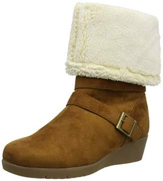 Joe Browns Womens Faux Fur Lined Wedge Boots 5