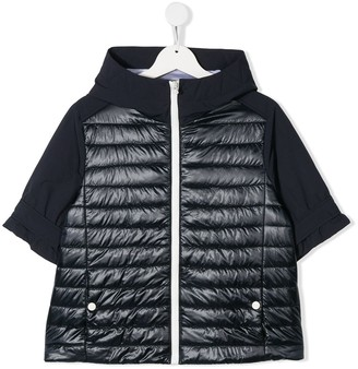 Herno TEEN quilted panel jacket
