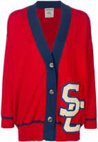 Semi-Couture Semicouture logo embellished long cardigan