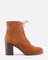 Le Château Faux Suede Lace-Up Ankle Boot