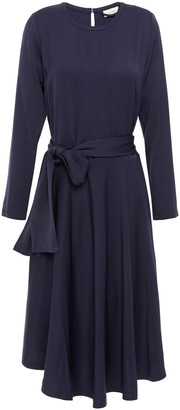 American Vintage Belted Satin-crepe Dress