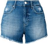Zoe Karssen stars embroidery denim shorts