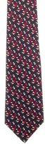 Hermes Worker Print Silk Tie