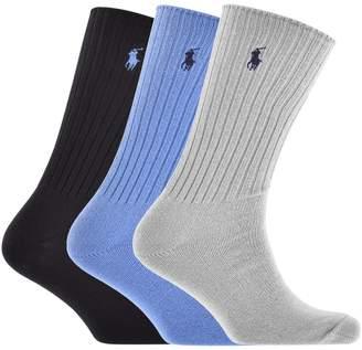 Ralph Lauren 3 Pack Socks Navy
