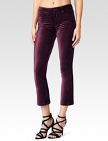 Paige Colette Crop Flare - Ruby Red Velvet