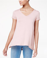 Hippie Rose Juniors' Strappy-Back T-Shirt
