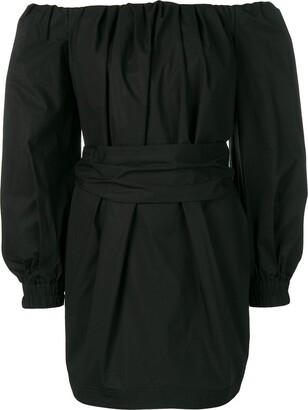 Philosophy di Lorenzo Serafini off shoulder belted dress