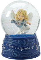 """Precious Moments Guide Us To Thy Perfect Light"""" Angel Musical Christmas Snow Globe"""