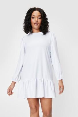 Nasty Gal Womens Plus Size Loose Fit Mini Dress - White