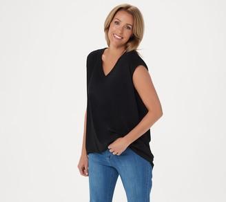 Susan Graver Modern Essentials Liquid Knit V-Neck Top
