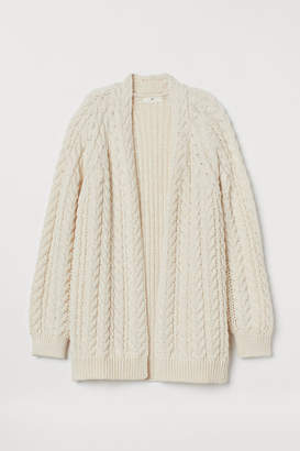 H&M Cable-knit Cardigan - White