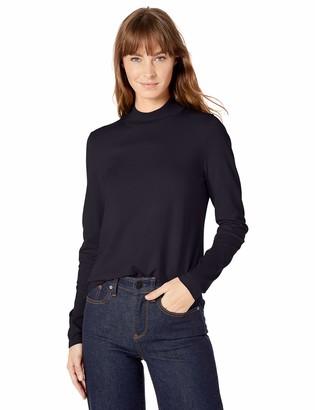 Lark & Ro Amazon Brand Women's Warm Handed Synthetic Mock Neck Sweater