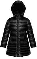 Moncler Suyen Hooded Long Puffer Coat, Black, Sizes 8-14