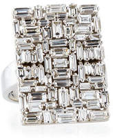 Suzanne Kalan Fireworks Diamond Baguette Cluster Ring in 18k White Gold, Size 6.5